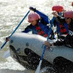 Witewater rafting action shot