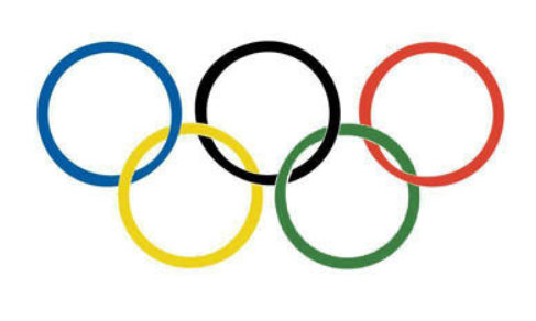 The Official Olympic Rings. Image property of the IOC