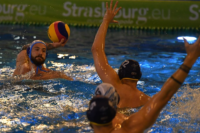Water polo international mens game  defense