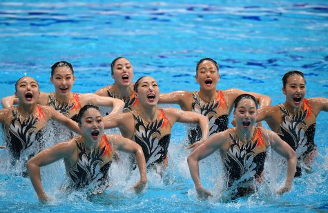 Japan synchronised artistic swim team 2019